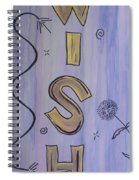 Wish Acrylic Watercolor Spiral Notebook