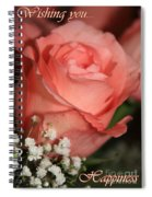 Wishing You Happiness Card Spiral Notebook