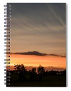 Wispy Clouds At Sunset Spiral Notebook