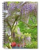 Wistaria On Pergola Spiral Notebook