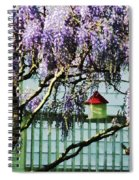 Wisteria And Birdhouse Spiral Notebook