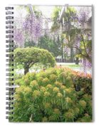 Wisteria In Hailstorm Spiral Notebook