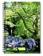Wisteria On Lawn Spiral Notebook