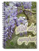 Wisteria Sympathy Card Spiral Notebook