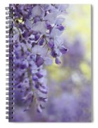 Wisteria's Soft Floral Whispers Spiral Notebook
