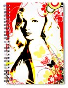 Wistful Flutter Spiral Notebook