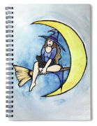 Witch And Moon Spiral Notebook