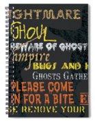 Witchcraft Typography Spiral Notebook