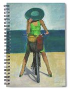 With Bike On The Beach Spiral Notebook