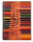 With Design Elements In Rows Spiral Notebook