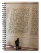 With Malice Toward None With Charity For All -- President Lincoln's Second Inaugural Address Spiral Notebook