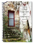 With Me - Verse And Heart Spiral Notebook