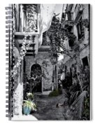 With One Cat In The Yard Spiral Notebook