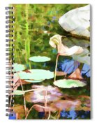 Withered Lotus In The Pond 2 Spiral Notebook
