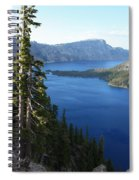 Wizard Island On Crater Lake Spiral Notebook