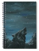 Wolf And The Stars Spiral Notebook