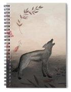 Wolf At Twilight Spiral Notebook