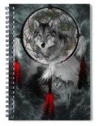 Wolf Dreamcatcher Spiral Notebook