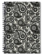 Wolf Gray Paisley Design Spiral Notebook