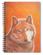 Wolf Home Burning Spiral Notebook