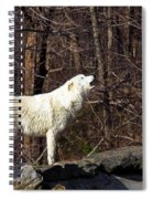 Wolf Howling In Forest Spiral Notebook