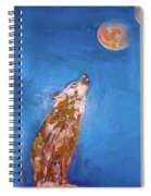 Wolf In The Night Spiral Notebook