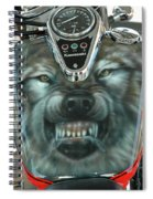 Wolf Motorcycle Gas Tank Spiral Notebook