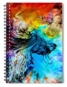 Wolf Playing With Butterflies Spiral Notebook