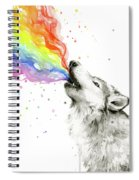 Wolf Rainbow Watercolor Spiral Notebook