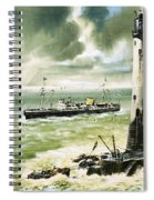 Wolf Rock Lighthouse At Land's End Spiral Notebook