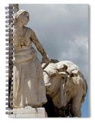 Woman And Bull, Marquis De Pombal Monument Spiral Notebook