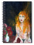 Woman And Flowers  Spiral Notebook
