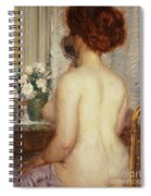 Woman At A Dressing Table Spiral Notebook