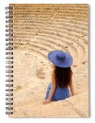 Woman At Greco-roman Theatre At Kourion Archaeological Site In C Spiral Notebook