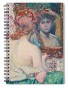 Woman At The Mirror  Spiral Notebook