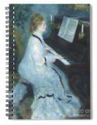 Woman At The Piano Spiral Notebook