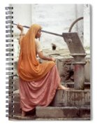 Woman At The Pump Spiral Notebook