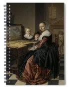 Woman At The Virginal Spiral Notebook