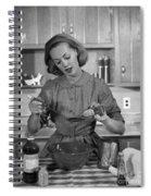 Woman Baking In Kitchen, C.1960s Spiral Notebook