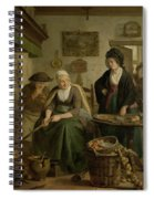 Woman Baking Pancakes Spiral Notebook