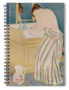 Woman Bathing Spiral Notebook