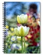 Photographer Behind The Flowers Spiral Notebook