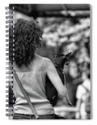 Woman Carry Dog Nyc Blk Wht  Spiral Notebook