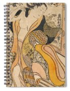 Woman Disrobing Spiral Notebook