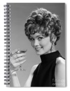 Woman Drinking Champagne, C.1960s Spiral Notebook