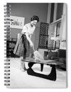 Woman Dusting, C.1950-60s Spiral Notebook