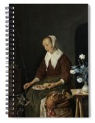 Woman Eating Spiral Notebook
