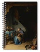 Woman Eating Porridge Spiral Notebook