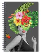 Woman Floral  Spiral Notebook