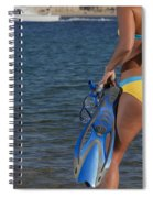 Woman Getting Ready To Go Snorkeling Spiral Notebook
